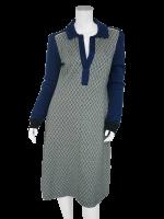 ISIS jurk Jacquard d. bleu/off-white