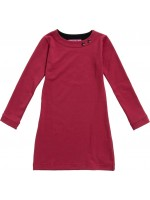 Waaaw jurk l/s bordeaux