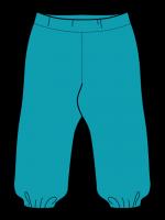 Hippe turquoise broek van het Zweedse merk Maxomorra. De broek is gemaakt van sweatstof en heeft elastiek rond de enkels.   De kinderkleding van Maxomorra is gemaakt van GOTS-gecertifceerd biologisch katoen.