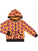 Maxomorra hoodie bloemen oranje