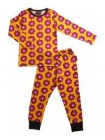 Maxomorra pyjama bloemen oranje
