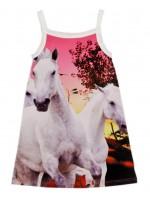 Wild jurk Janet Panel White Horses