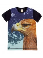 Wild t-shirt Army Panel Golden Eagle blue