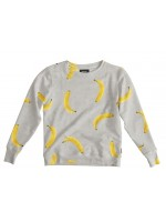 Snurk sweater bananas grey dames