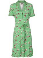 Groene jurk met bloemenprint van het Belgische merk Who's that Girl.
