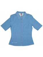 Wow to Go blouse Minou Cobalt