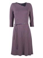 Hippe jurk met gekleurde driehoekjes van het het Belgische merk Who's that Girl. De jurk heeft een a-symetrische halslijn.
