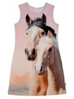 Jurk met 2 paarden van het hippe merk Wild.  De jurk is gemaakt van Oekotex gecertificeerd katoen.