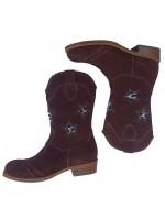 Stoere bruine laarzen met een vachtje in de sterren van het prachtige Italiaanse merk Zecchino D'oro. De laarzen zijn handgemaakt, hebben een lederen voetbed en zijn uniek!  De laarzen sluiten met een rits en vallen ruim. (ongeveer een halve maat groter)